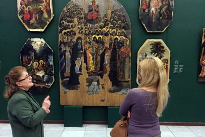 Посещение Национального художественного музея в Киеве